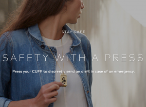 Yikes, Cuff! Why is she in an alley looking over her shoulder?!
