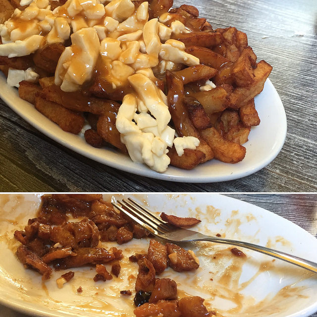 This poutine did not stand a chance!