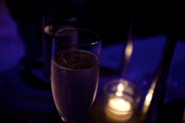 Champagne I enjoyed at midnight in New Orleans (photo taken by Fuji X100T camera I rented)