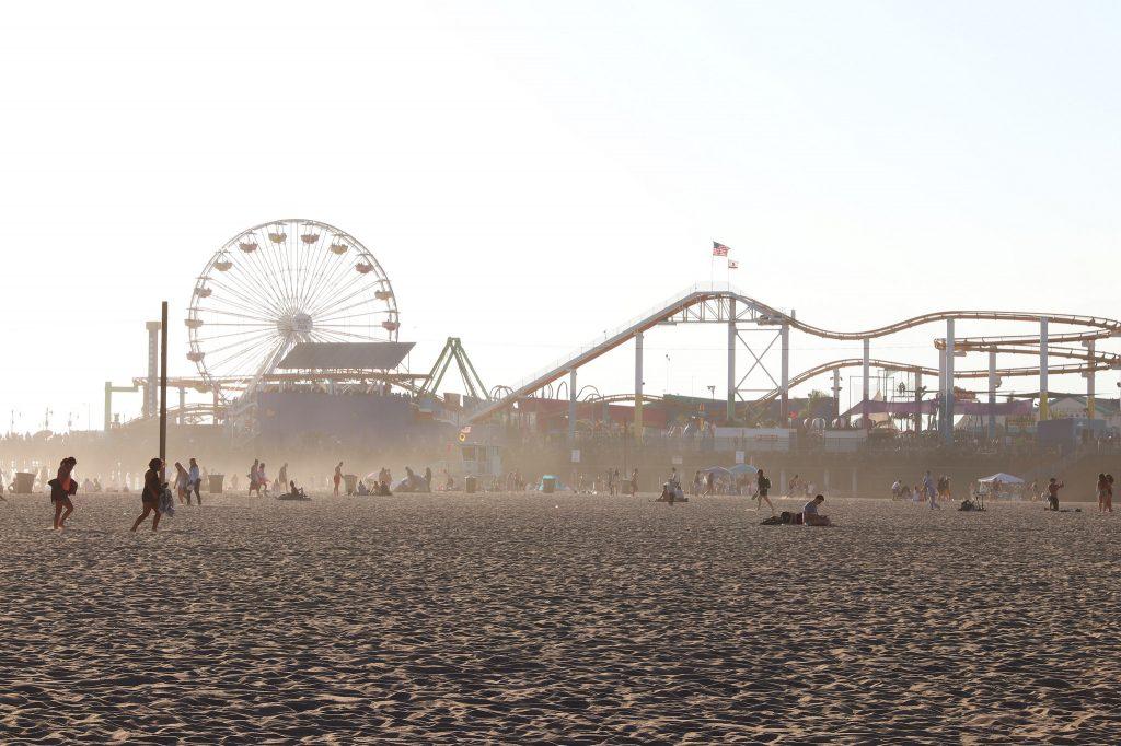 Hazy Santa Monica Pier
