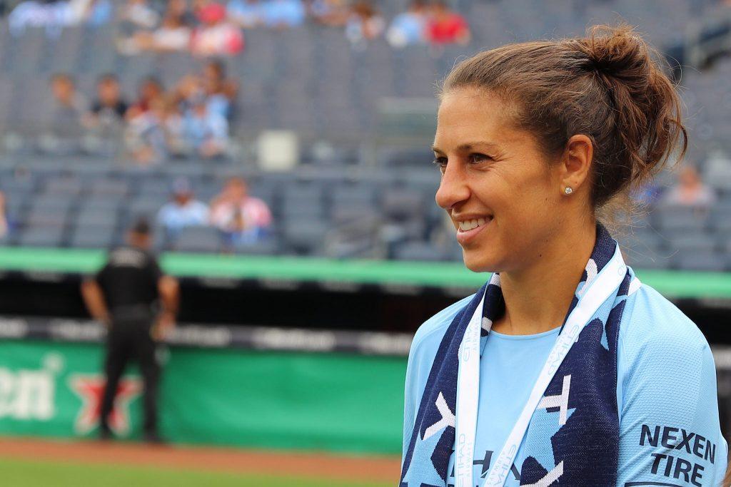 Carli Lloyd at Yankee Stadium by Jen Gallardo